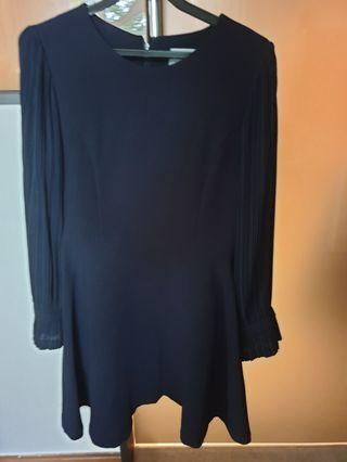 Navy Blue Dress Korean Style