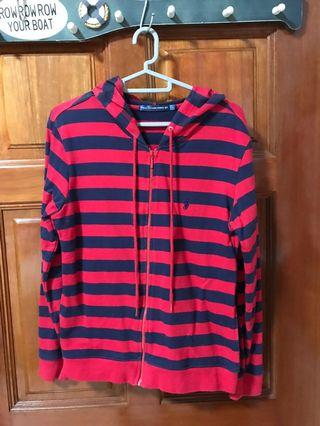 Polo raulph red stripe black jacket in large