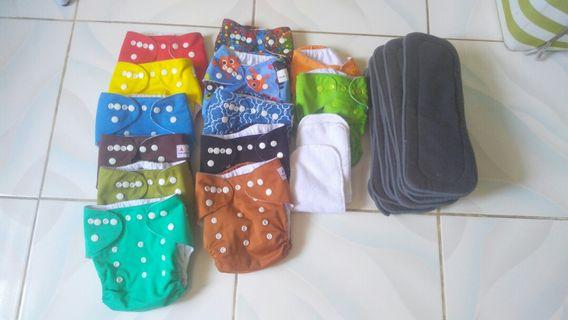 Cloth diapers with bamboo charcoal inserts