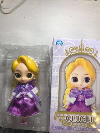 迪士尼公主長髮公主SEGAcuicui premium doll Rapunzel winter ver