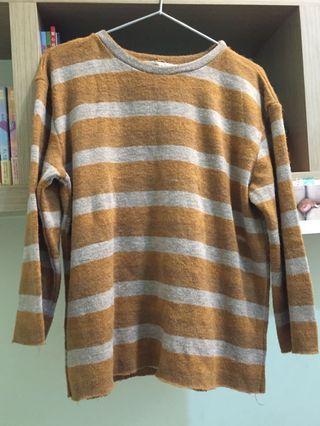 🚚 駝色條紋毛衣