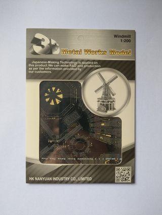 🚚 DIY 3D Metal Model - Windmill