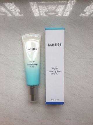 (包郵) (4折) Laneige White Dew Tone Up Fluid SPF35 PA++ 水光亮白調色防曬日霜SPF35 PA++ 50ml (100% NEW 全新)