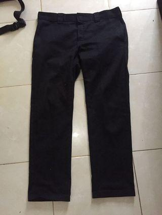 celana dickies slim straight black