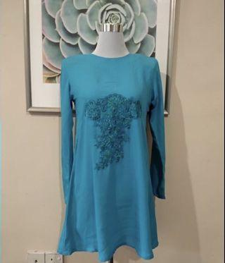 Turquoise Blouse Top