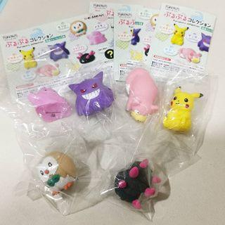 Pokemon Pikachu Puru Puru Squishy Squeeze Rement Collection