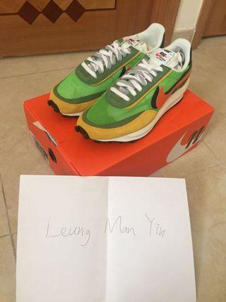 Nike x sacai Green us9