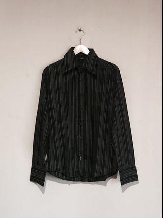 BKK Awesome Multicolored Stripe Work Shirt #mauvivo