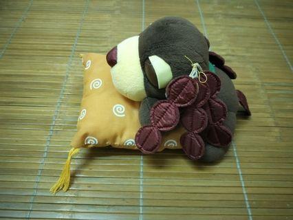 🚚 可愛茶犬抱枕娃娃