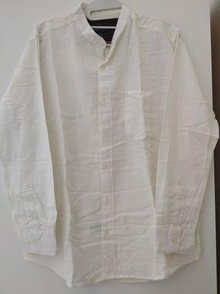 Kemeja Putih Lengan Panjang Broodis Preloved #BAPAU