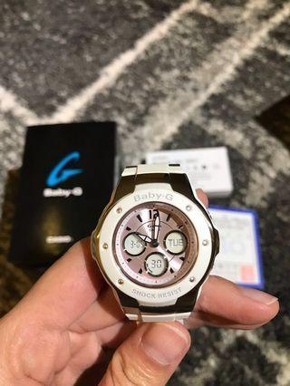 😱60% off❗️全新 CASIO BABY-G 雙顯鏈帶女錶