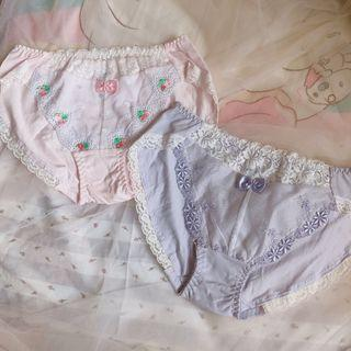Ladies underwear 少女日系牛奶絲純綿內褲愛心蝴蝶結蕾絲 Peach John  Sixty eight Tutuanna Victoria secret
