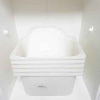 IKEA Trofast storage boxes & lids in white (remaining 5 pieces)