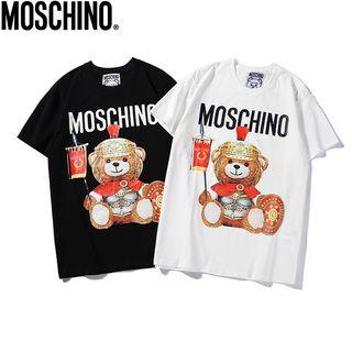 Moschino Outlet 盔甲🐻短袖Tee  黑白色