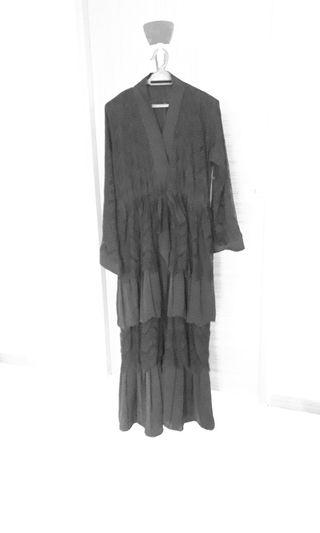 Kimono style long dress or jubah