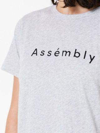 Assembly Label Grey Logo Tee T-Shirt