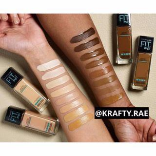 ✨INSTOCK: MAYBELLINE FIT ME MATTE AND PORELESS FOUNDATION