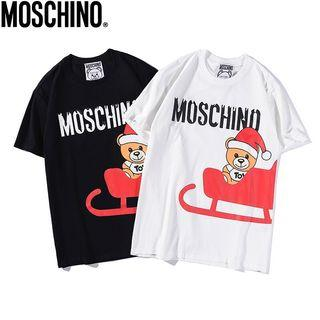 Moschino Outlet 聖誕🐻短袖Tee  黑白色