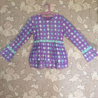 Batik peplum ungu