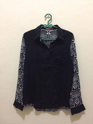 #BAPAU Aztec Pattern Black Shirt