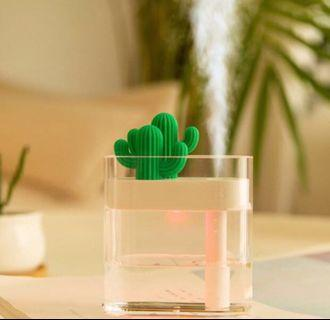(Ready stock) 160 ml Usb Purifier Air Mini Clear Cactus Light Humidifier Essentials oil