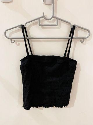 Square neck frill Botton crop top
