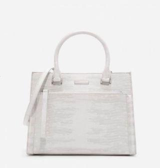 🚚 Charles & Keith Handbag -front zip structured bag  (new!)