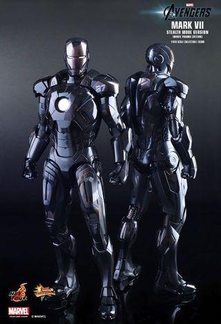 🚚 Hot Toys Iron Man Mark VII Stealth Mode Version  MISB not Avengers