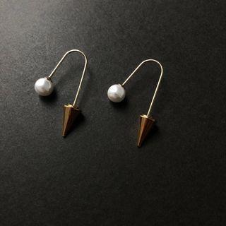 Pearl Spike Earrings