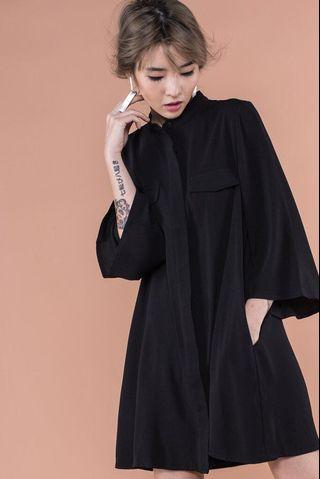 BN YoungHungryFree Dolce Shirt Dress in Black (YHF)