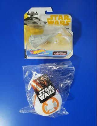 🚚 Hot Wheels Star Destroyer & BB8 plush toy