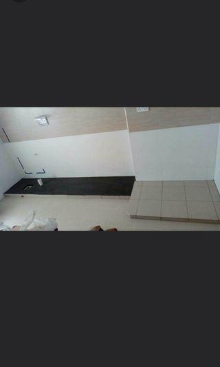 Kitchen concrete cabinet base + fridge base