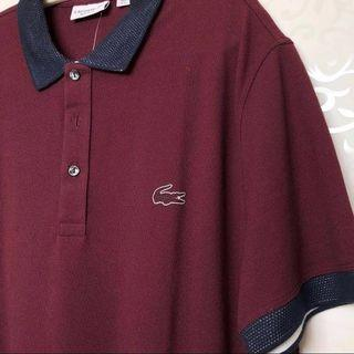 New Lacoste Men Polo Shirt Maroon FR6