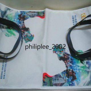 上肩側背手挽袋 Tote Bag Good News 好報  HKJC 130周年紀念版