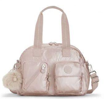🚚 Kipling 全新亮粉色波士頓包側背手提二用包