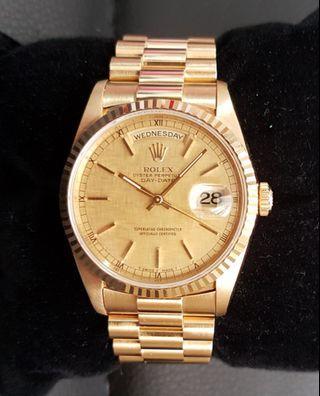 Rolex Day Date President 18k Watch MINT! 18238