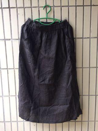 🚚 self-dyed skirt pure linen 亞麻棉 長裙 自己染的