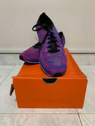 Nike Flyknit Racer Purple/Blue Women Shoe UK 7.5/US8.5