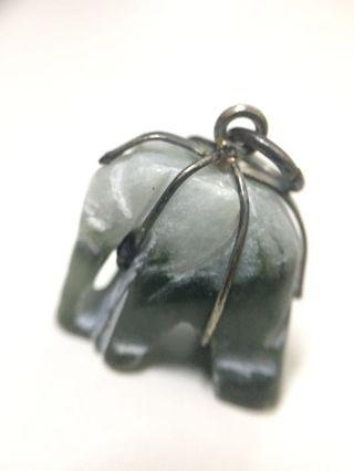 Burmese jade elephant pendant