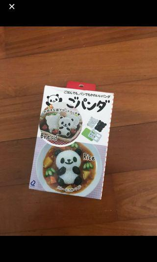 Panda curry rice cooking mold