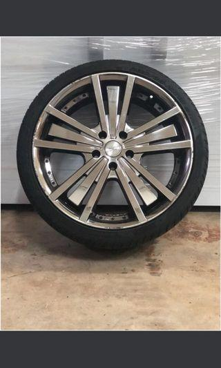 19 inch Solid Chrome Rim and Tyre