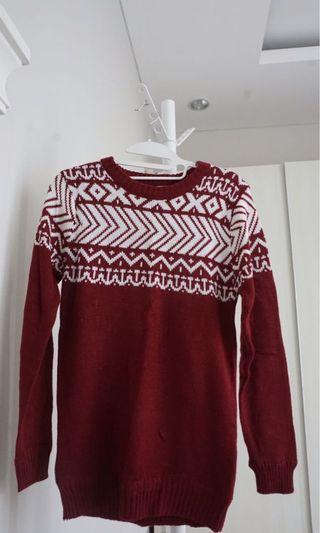 Knit Maroon Sweater