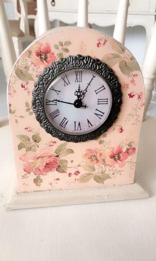 Wooden floral clock