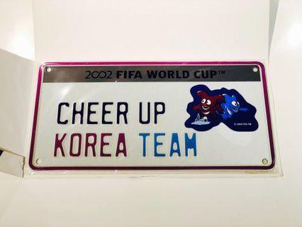 2002 FIFA World Cup Korea Japan 世界杯 - 鐵牌
