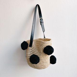 🚚 Pom Pom Bucket Basket Bag