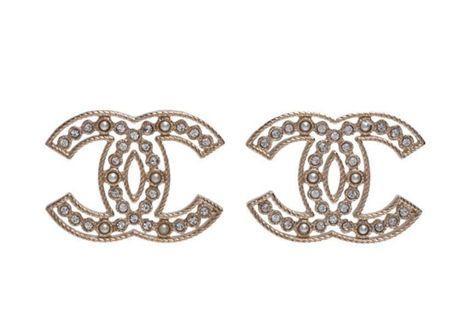 Chanel 大C 鏤空耳環