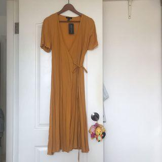 New new tag new look mustard yellow onepiece dress outer