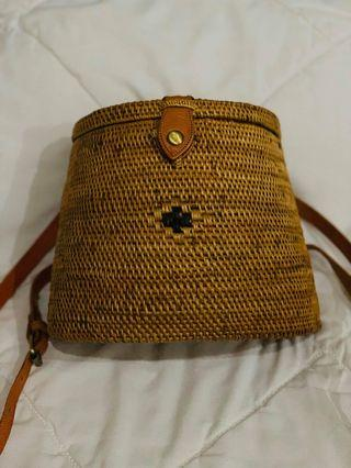 Rattan Bali Bag Backpack Onhand!