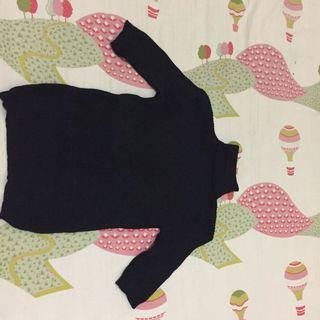 #BAPAU Black Turtle Neck Knit Top