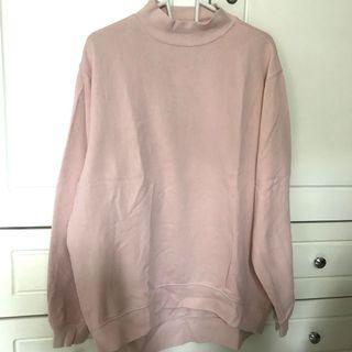 NEW h&m Soft Pink Oversized Sweater Sweatshirt